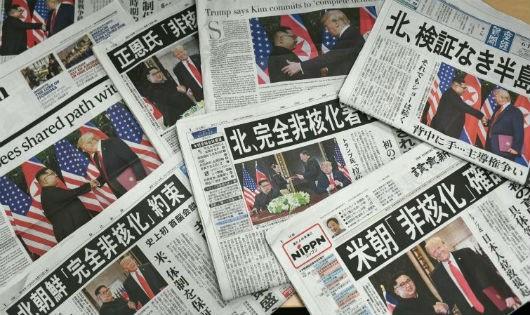 Báo chí Nhật đưa tin về hội nghị thượng đỉnh Mỹ - Triều.