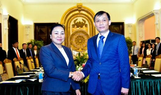 Hai Thứ trưởng Ngoại giao Việt Nam - Lào.