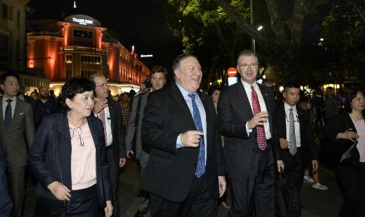 Ngoại trưởng Mỹ Michael R. Pompeo tại Việt Nam. Ảnh: ĐSQ Mỹ tại Việt Nam.
