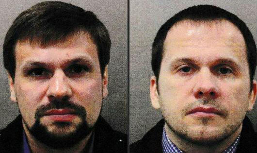 Hình ảnh các nghi phạm do giới chức Anh công bố.