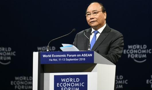 Thủ tướng Nguyễn Xuân Phúc đưa nhiều đề xuất, sáng kiến tại WEF ASEAN 2018