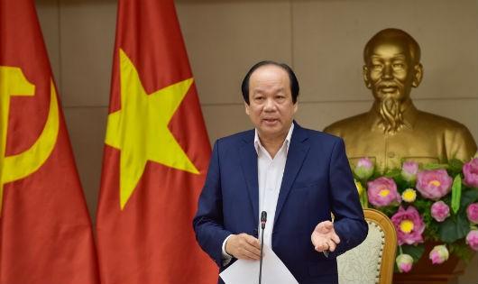 Bộ trưởng, Chủ nhiệm VPCP Mai Tiến Dũng phát biểu tại cuộc họp.