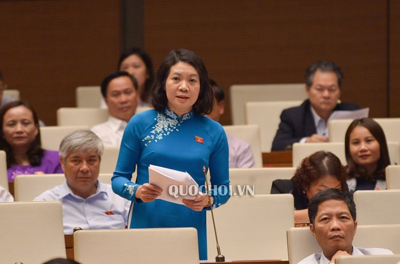 ĐB Mai Thị Phương Hoa phát biểu tại phiên họp.
