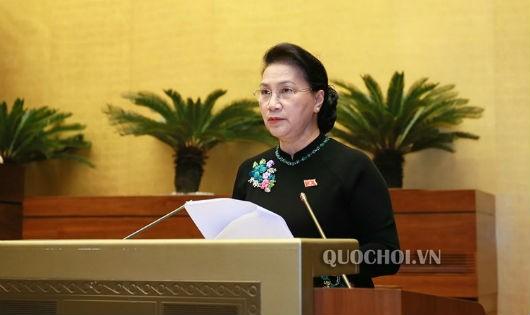 Chủ tịch Quốc hội phát biểu kết luận phiên chất vấn và trả lời chất vấn.