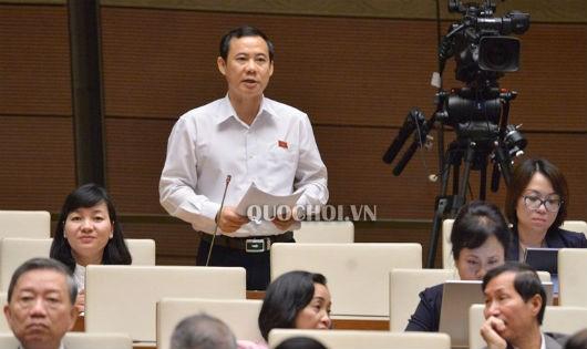 ĐB Nguyễn Thái Học phát biểu tại phiên họp.
