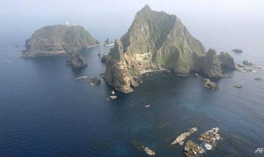 Hình ảnh từ vệ tinh nhóm đảo mà Hàn Quốc và Nhật Bản đang có tranh chấp.