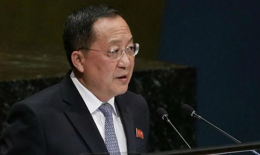 Bộ trưởng Ngoại giao Triều Tiên Ri Yong Ho.