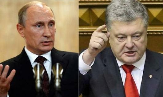 Tổng thống Nga và Tổng thống Ukraine.