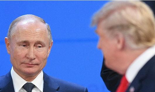 Tổng thống Nga và Mỹ.
