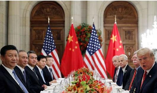 Lãnh đạo Mỹ - Trung tại buổi làm việc.