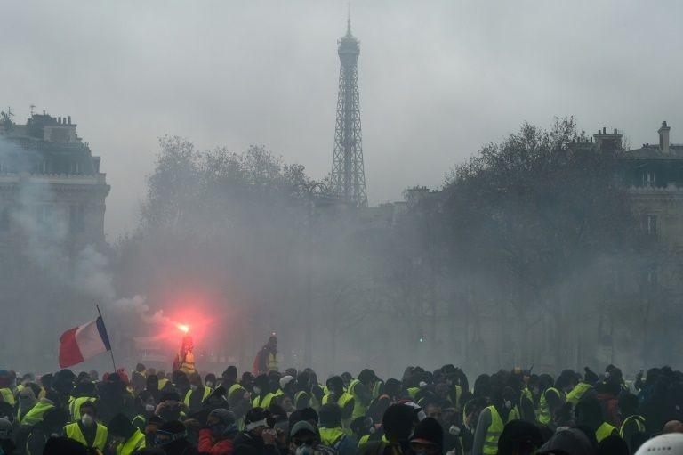Biểu tình ở Paris, Pháp