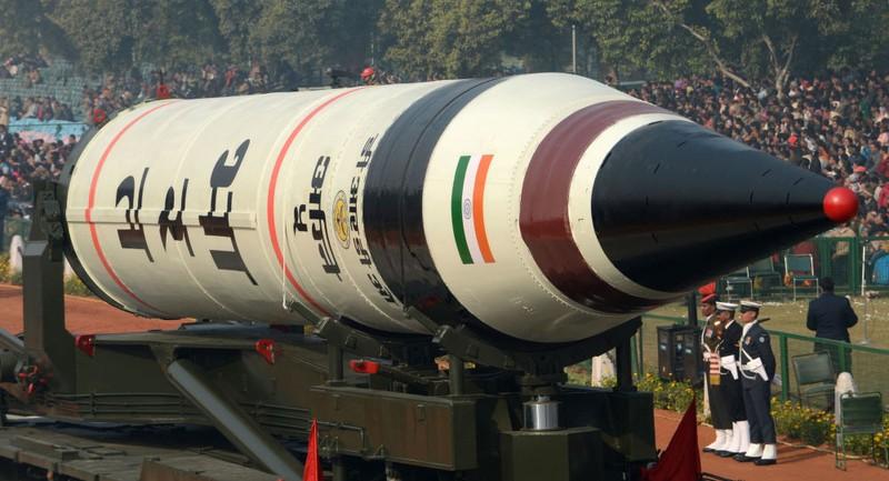 """Ấn Độ thử nghiệm tên lửa có khả năng mang đầu đạn hạt nhân """"Agni-5"""""""