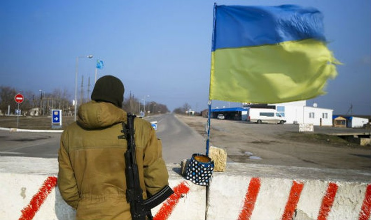 Binh lính ở biên giới Nga - Ukraine.
