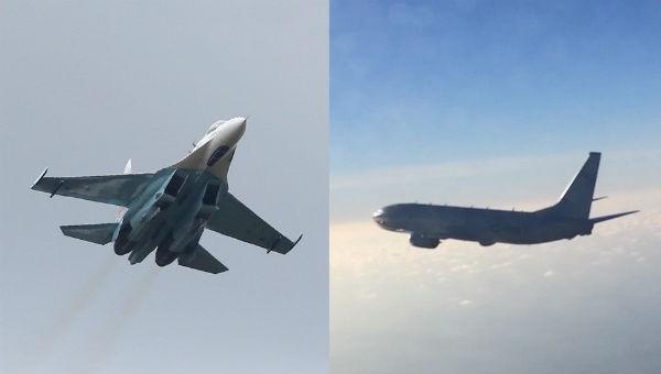 Nga điều máy bay chiến đấu Su-27 chặn máy bay trinh sát Mỹ ở biển Baltic