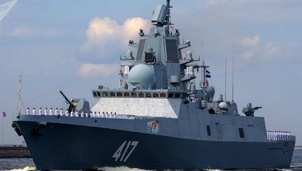 Tàu khu trục của Nga.