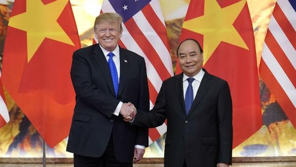 Tổng thống Trump và Thủ tướng Nguyễn Xuân Phúc.