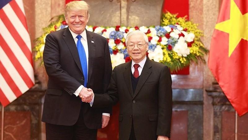 Tổng Bí thư, Chủ tịch nước Nguyễn Phú Trọng gặp Tổng thống Mỹ Trump tại Việt Nam hôm 27/2 vừa qua.