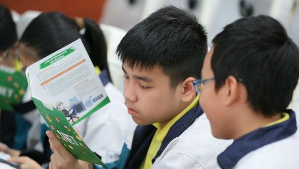 Các em học sinh tại Hội thảo.