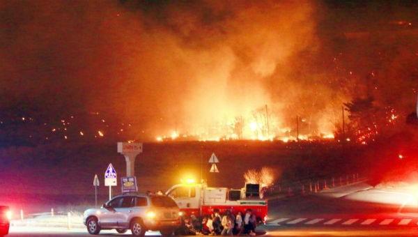 Hình ảnh vụ cháy rừng.