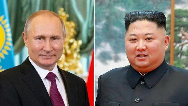Tổng thống Nga Vladimir Putin và Nhà lãnh đạo Triều Tiên Kim Jong Un