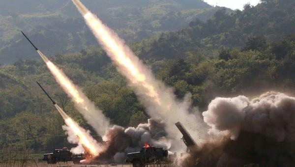 Hình ảnh vụ thử tên lửa mới nhất của Triều Tiên.