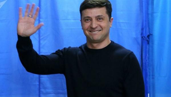 Tổng thống đắc cử Ukraine Vladimir Zelensky.