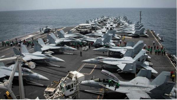 Tàu sân bay Mỹ ở Trung Đông.