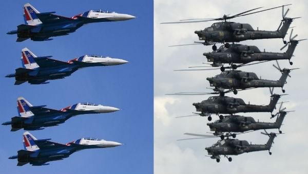 Dàn máy bay của Nga.