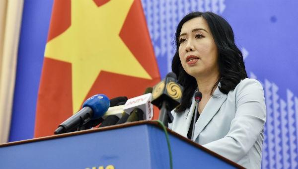Người phát ngôn Bộ Ngoại giao Lê Thị Thu Hằng.