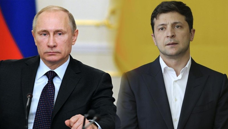 Tổng thống Nga Putin và người đồng cấp Ukraine.