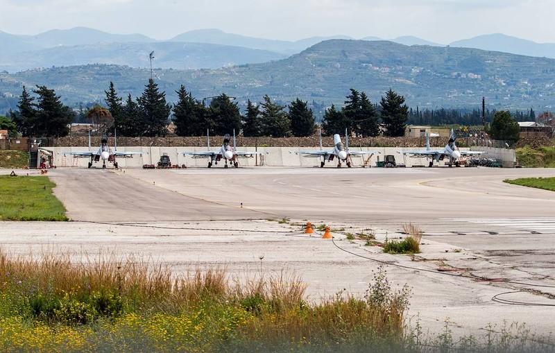 Căn cứ không quân Hmeymim của Nga tại Syria.