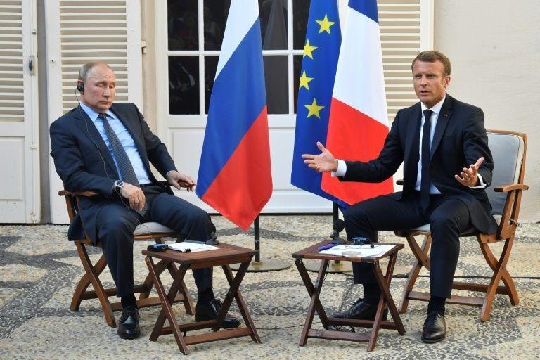 Tổng thống Nga Putin và Tổng thống Pháp Macron.