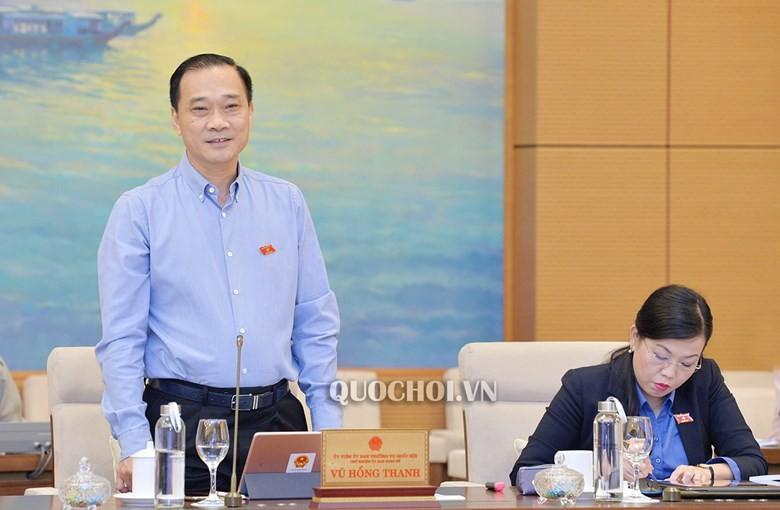 Chủ nhiệm Ủy ban Kinh tế của QH Vũ Hồng Thanh cho ý kiến tại phiên họp.