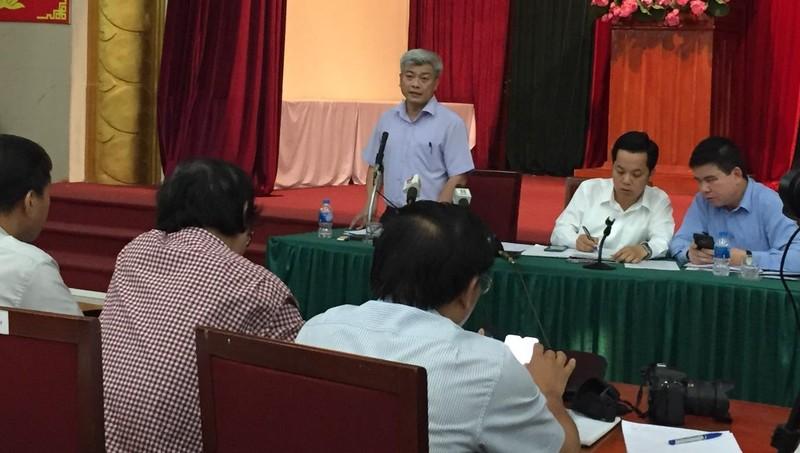 Ông Mai Trọng Thái thông tin tại hội nghị.