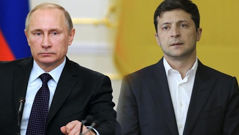 Tổng thống Nga Putin và người đồng cấp Ukraine Zelensky.