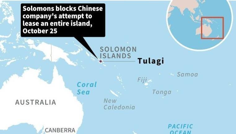 Tập đoàn Trung Quốc muốn thuê một hòn đảo của Solomon.