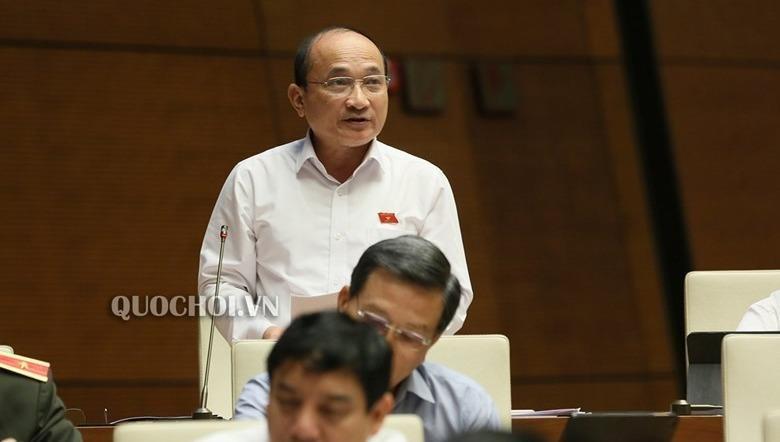 ĐB Nguyễn Thanh Hiền (đoàn Nghệ An) phát biểu tại phiên họp.