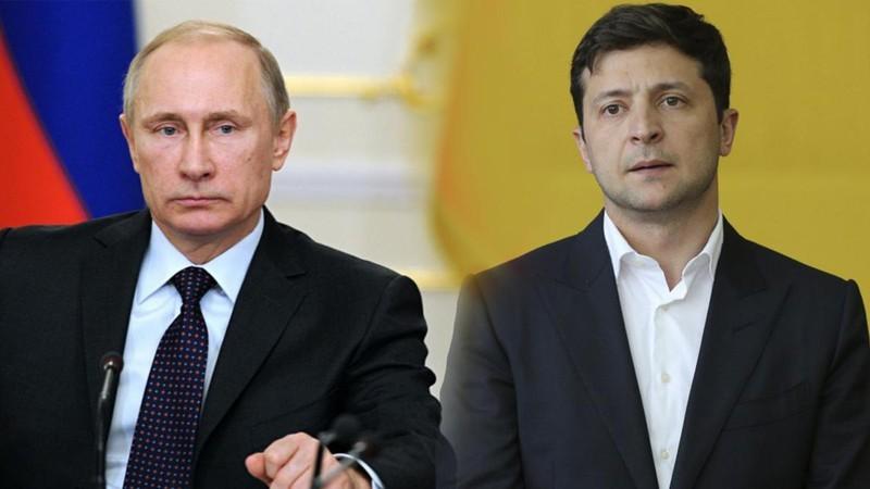 Tổng thống Nga Putin và Tổng thống Ukraine Volodymyr Zelensky.
