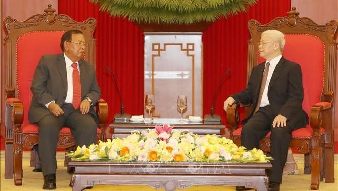 Lãnh đạo Việt Nam đồng gửi Điện mừng Quốc khánh Lào