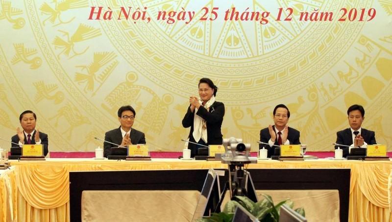 Chủ tich Quốc hội Nguyễn Thị Kim Ngân dự Hội nghị.