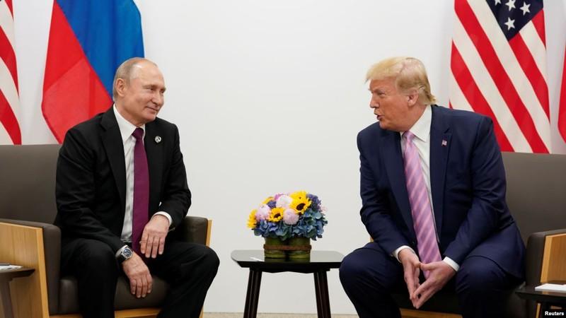 Tổng thống Nga và Mỹ trong cuộc gặp hồi tháng 6 vừa qua.