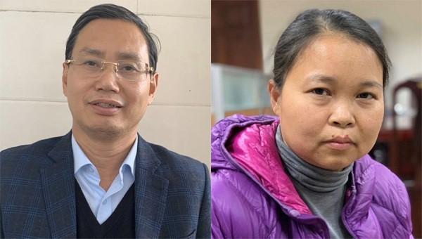 Chánh Văn phòng Thành ủy Nguyễn Văn Tứ và Chánh Văn phòng Sở Kế hoạch & Đầu tư Phạm Thị Thu Hường.
