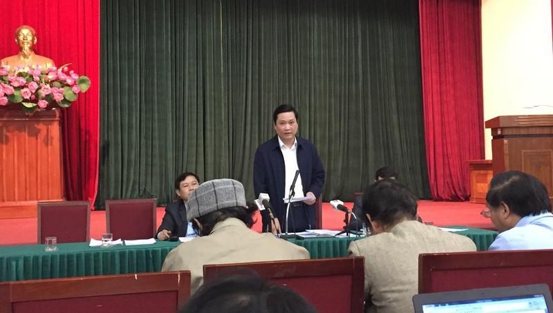 Phó Giám đốc Sở Lao động, Thương binh và Xã hội TP Hà Nội Nguyễn Quốc Khánh thông tin tại Hội nghị.