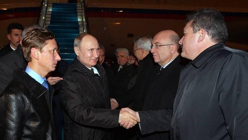 Tổng thống Nga Vladimir Putin đến Thổ Nhĩ Kỳ.
