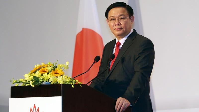 Phó Thủ tướng Vương Đình Huệ phát biểu tại lễ khai mạc các hội thảo, diễn đàn kinh tế, du lịch, lao động Nhật Bản-Việt Nam - Ảnh: VGP