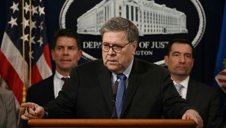 Bộ trưởng Tư pháp Mỹ William Barr.
