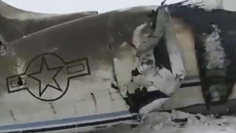 Hình ảnh chiếc máy bay bị rơi do Taliban công bố