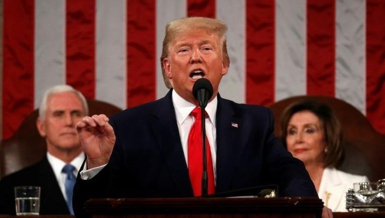 Tổng thống Mỹ Donald Trump đọc Thông điệp liên bang.