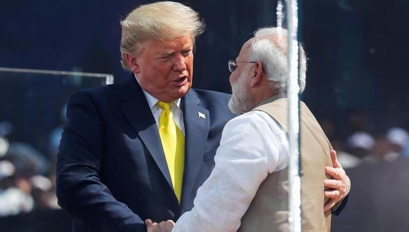 Ông Trump và Thủ tướng Ấn Độ Narendra Modi.