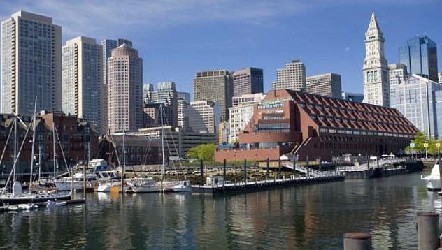 Khách sạn Marriott Long Wharf tại thành phố Boston.